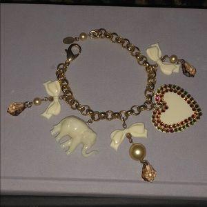 Tarina Tarantino Elephant Charm Bracelet
